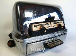 Vintage 1950's GE General Electric Chrome Toaster + Warming Oven Model 85T83