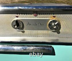 Vintage 1950's GE General Electric OVEN Turquoise/Aqua Blue Built-In MCM