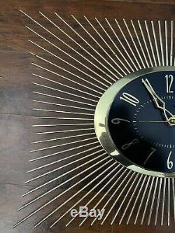 Vintage 1960's Mid Century General Electric Sunburst Starburst Clock