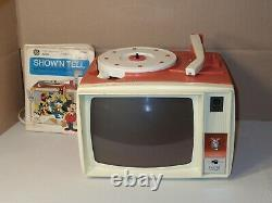 Vintage 1960s General Electric Show N Tell Phono Viewer, 10 records, New Needle
