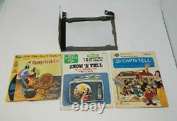 Vintage 1960s General Electric Show N Tell Phono Viewer with Stories