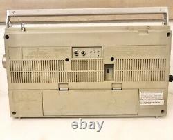 Vintage 1980s General Electric 3-5286A BoomBox GhettoBlaster AM FM Cassette