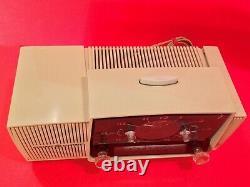 Vintage 50's 60's General Electric Clock Radio Model C416-17 Or C430 Works READ
