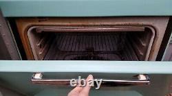 Vintage 60s AQUA Frigidaire General Electric GE Stove, Hood & Refrigerator set