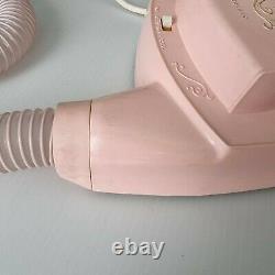 Vintage 60s Australian General Electric Pink Bonnet Hair Dryer Original Box