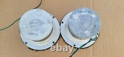 Vintage Ampex Bullet Tweeters Speakers Pair Org Work GE General Electric G-504