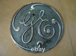 Vintage Antique GE General Electric 12 Brass Plaque Industrial Railroad Turbine
