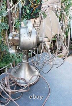 Vintage Antique GE General Electric Vortalex Art Deco Electric Fan Works