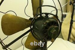Vintage Antique General Electric Brass Fan GE Cast Iron Heavy Bass Home Decor