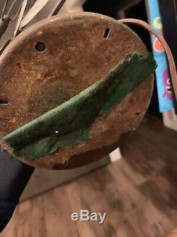 Vintage Antique General Electric GE Brass Blade Fan USED works 1920s