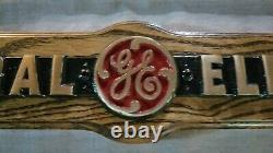 Vintage Brass General Electric Company (ge) Nameplate