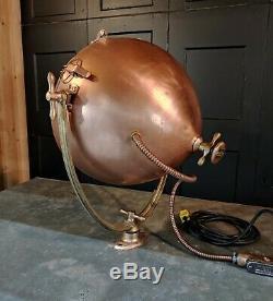 Vintage Copper GE Novalux Floodlight Projector by General Electric RESTORED