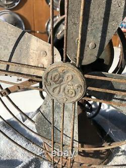 Vintage Deco General Electric Fan 16 Inch Blade Attic Find Unrestored USA