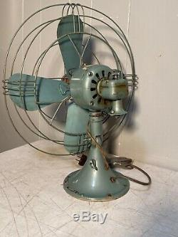 Vintage GE General Electric 16 Fan CAT FM16S1 Working and Oscillating Good