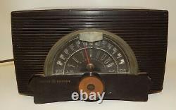 Vintage GE General Electric Bakelite AM/FM Tube Radio Model 408 Works