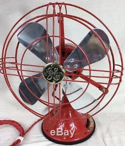 Vintage GE General Electric Fan. Made In 1937. Just Reworked! 12 Blades. Nice