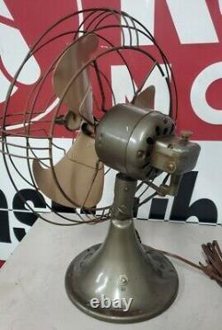 Vintage GE General Electric Metal Fan Model# fm10v21 Working in Org. Box