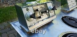 Vintage GE General Electric Mid Century Modern MCM Steel Stove Hot Point Oven