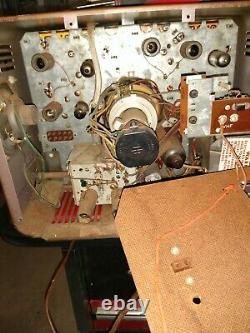Vintage GE General Electric Portable 12 television tv alarm clock Rare 2 tone