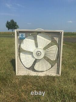 Vintage GE General Electric Portable Box Fan 3 Speed Useable Needs Work