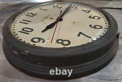 Vintage GE General Electric School Wall Clock 14.5 Industrial Medical 1H 1412