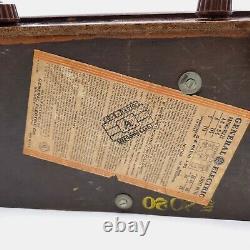 Vintage GE General Electric Tube Radio J-53 Tabletop Wooden AM 1941 Works