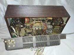 Vintage GE General Electric Vacuum Tube TV with clock, & radio, model m181ywd