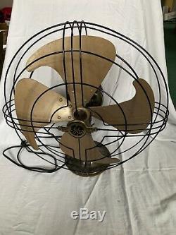 Vintage GE General Electric Vortalex Fan 17 original 3 speed works