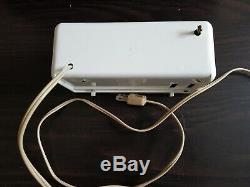 Vintage GE General Electric White Panel Alarm Flip Clock Model 8125A