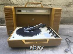 Vintage GE General Electric Wildcat Record Player Portable Turntable Stereo USED