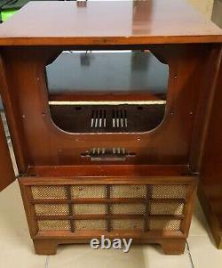 Vintage GE TV Television Console Cabinet General Electric 1950's