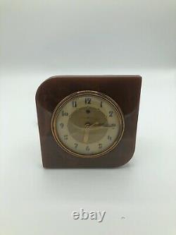 Vintage GENERAL ELECTRIC Bakelite Clock #3H96 WORKING Mid-Century GE