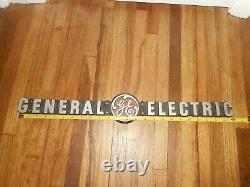 Vintage GENERAL ELECTRIC GE Cast Aluminum Advertising SIGN