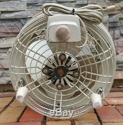 Vintage GENERAL ELECTRIC HASSOCK FLOOR TABLE 3 Speed Dual Blade Fan GE