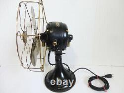 Vintage Ge General Electric Fan Brass Blade/cage Works Great Big Motor Yoke 1901