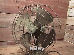 Vintage General Electric 12 Blade Oscillating Fan