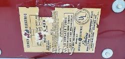 Vintage General Electric 429 Red Plastic Mid Century Modern Dial Beam Tube Radio