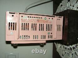 Vintage General Electric C-416 Pink Clock Tube Radio 1950s Retro art deco works