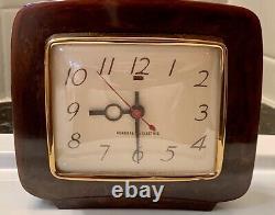 Vintage General Electric Catalin Alarm Clock Brown Art Deco