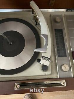 Vintage General Electric Console Record Player. Works Has Few Signs Of age