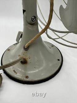 Vintage General Electric F12V163 Large Industrial Oscillating Vortalex Fan NICE