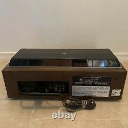 Vintage General Electric GE Automatic Cassette Changer Deck Radio Super Rare