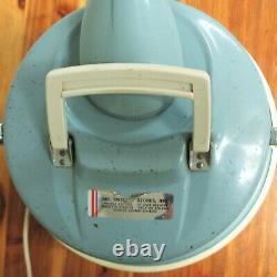 Vintage General Electric GE Canister Vacuum Cleaner V15C9 Baby Blue Great Shape