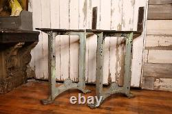 Vintage General Electric GE Industrial cast iron table legs base workbench desk