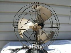 Vintage General Electric GE Oscillating Vortalex Fan 3 Blade