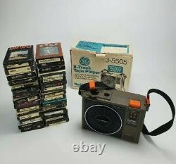 Vintage General Electric GE Portable 8 Track Player Model No 3-5505F Lot