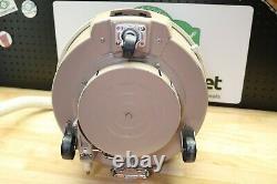 Vintage General Electric GE Swivel Top Canister Vacuum Retro Beige Model V11C13