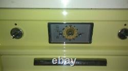 Vintage General Electric Oven, Stove, and over head fan