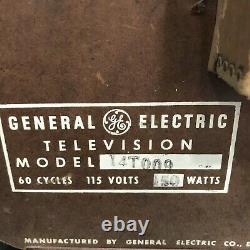 Vintage General Electric Portable Television Model 14T009 Red/White -COOL