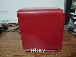Vintage General Electric Red Bakelite Clock Radio